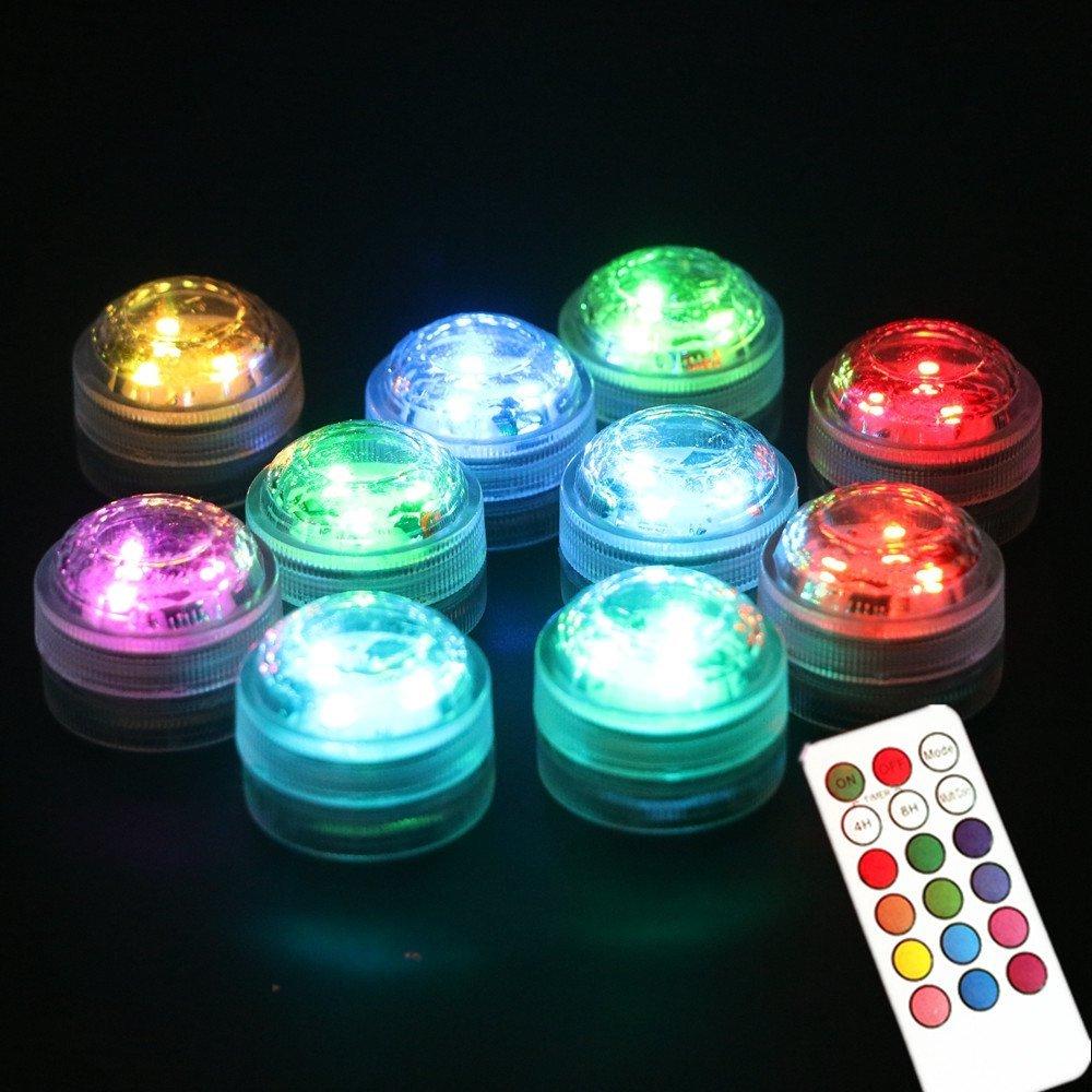 Köp Mini RGB LED lampa med fjärrkontroll vattentät. Belysning ... 933e1c3a0eca5