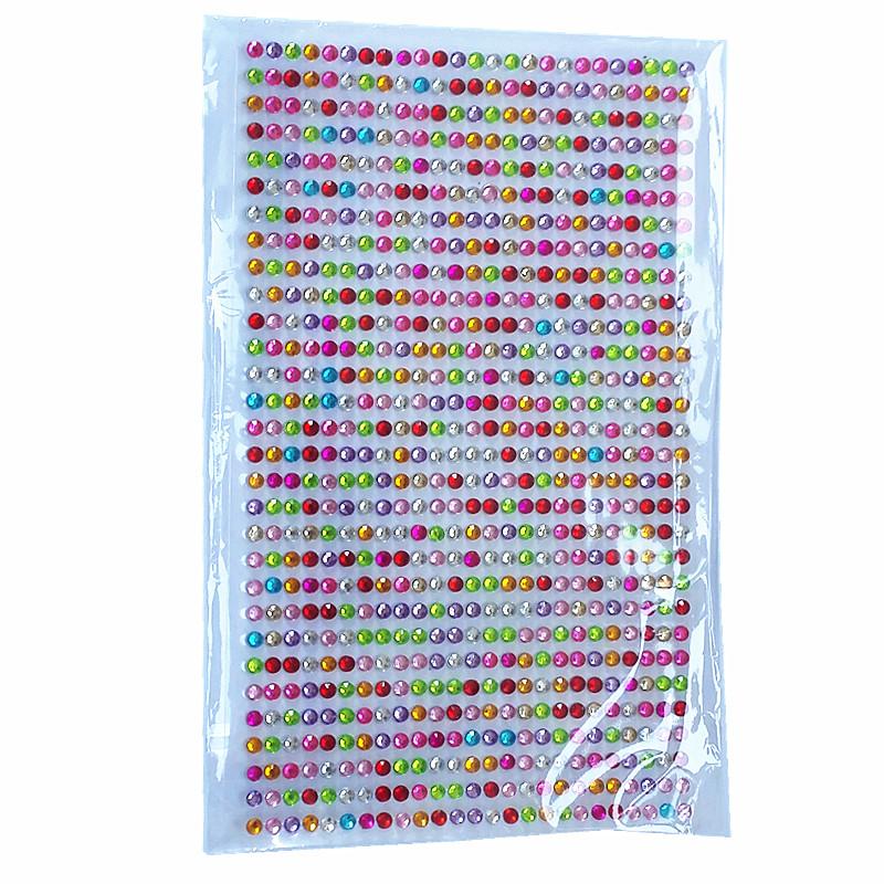 Köp 750 Självhäftande rhinestones strass flerfärgad. Dekoration på ... 7217a2fe53782