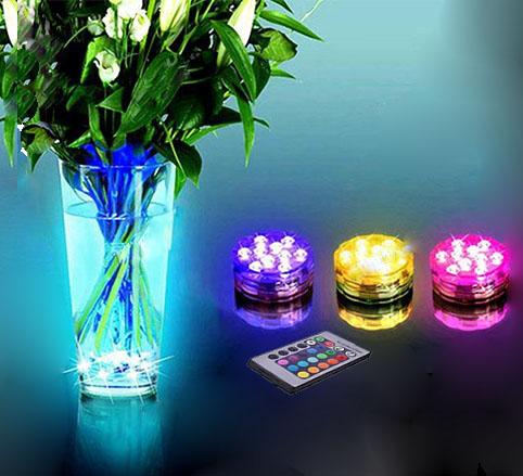 Toppen Köp RGB LED lampa med fjärrkontroll vattentät. Belysning UF-07