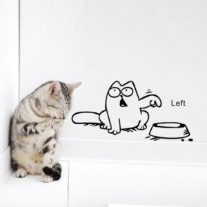 Härlig katt behöver mat heminredning vägg klistermärke