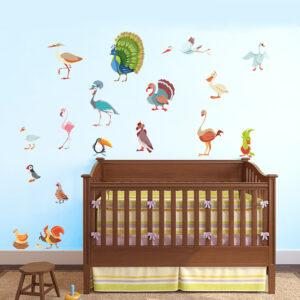 Fåglar vinyl vägg klistermärken 25 st