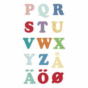 Svenska Engelska Alfabet och siffror vägg klistermärken