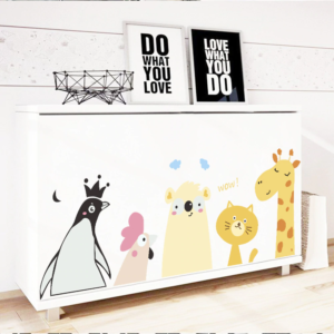 5 stora djur vinyl vägg klistermärken