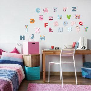 Engelska Alfabet vägg klistermärken