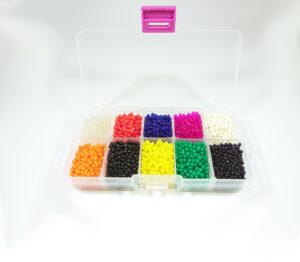 Stor Vattenkristaller i delad låda 10 färger 5000 st 1,5-2cm