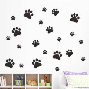 22 st/förp Hundar tasstryck vinyl vägg dekal