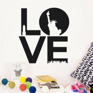 Love vinyl väggklistermärke