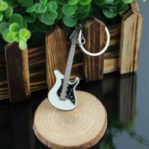 Gitarr formad nyckelring prydnadssak