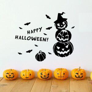 Pumpor Happy Halloween väggdekor klistermärken