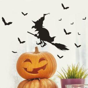 Häxa Halloween väggdekor klistermärken