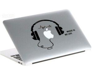 Hörlurar strömbrytare vinyl vägg klistermärken