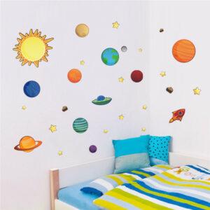 Sol system planeter vägg klistermärken