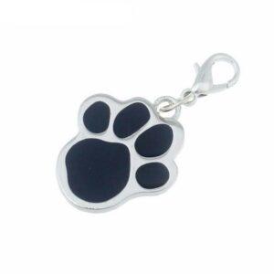 Hund fotspår nyckelring prydnadssak