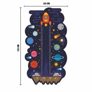 Raket mätsticka vägg klistermärke