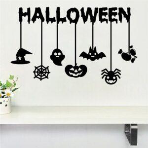 Halloween väggdekor klistermärken