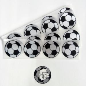 40 st/förp Skrapa av klistermärken football 25 mm