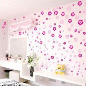 Blommor rummet vinyl vägg klistermärken 130 st
