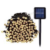 100 LED Solcellsdriven ljusslinga för trädgård