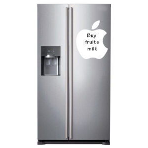 Flexibel Äpple formad whiteboard till kylskåp