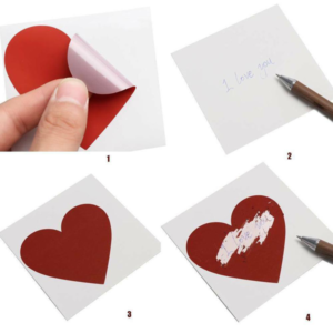 25 st/förp Skrapa av klistermärken hjärta 30 mm