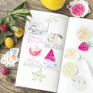 45 Sommar frukt klistermärken