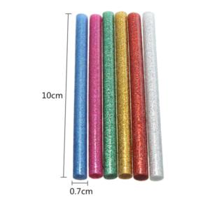 10 st/förp Glitter Limstift för elektrisk limpistol mini 20W