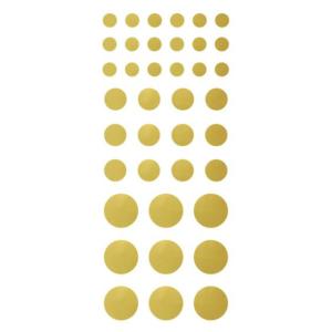 156 Mini klistermärken guld och silver 7-17 mm