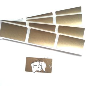 20 st/förp Skrapa av klistermärken stor Guld 35x58 mm