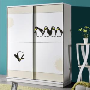 4 och 1 pingviner väggdekor