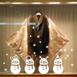 Snögubbe Juldekoration fönster/vägg dekor
