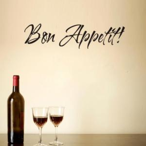 """""""Bon appetit"""" vinyl vägg klistermärken 61×15 cm"""