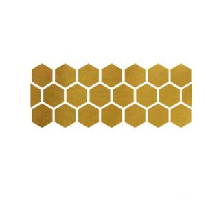 Guld hexagon vinyl vägg klistermärke 20st/förp