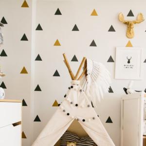 66 trianglar vinyl vägg klistermärken